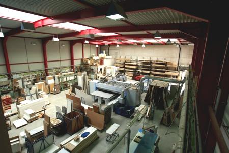 Produktionshalle mit Fußbodenheizung